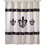 Avanti Fleur-De-Lis Luxembourg Shower Curtain