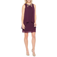 S. L. Fashions Sleeveless A-Line Dress