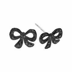 Black Diamond Accent Sterling Silver Stud Earrings