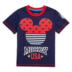 Disney by Okie Dokie Short Sleeve Cars T-Shirt-Toddler Boys