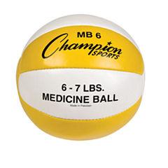 Champion Sports 67lb Leather Medicine Ball