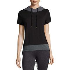 Xersion Short Sleeve Jacquard Hoodie