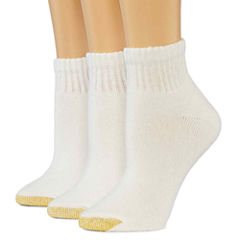 GoldToe® 3-pk. Ultra Tec Quarter Socks