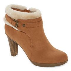 Liz Claiborne® Scrappy Heeled Ankle Booties