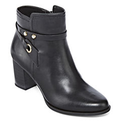 Liz Claiborne® Babin Heeled Ankle Booties - Wide