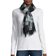 V. Fraas Plaid Loop Neck Scarf