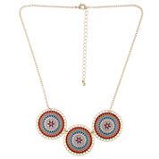 Decree® Circles Epoxy Statement Necklace