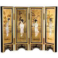 Oriental Furniture Mother Of Pearl Ladies Room Divider