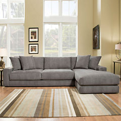 Fabric Possibilities Ponderosa Quick Ship 2pc Left Arm Facing Sectional in Curious