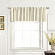 United Curtain Co. Dupioni Silk Back-Tab Straight Valance