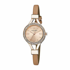 Laura Ashley Womens Rose Goldtone Strap Watch-La31025rg