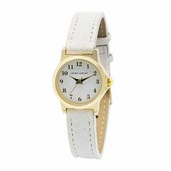 Laura Ashley Petite Band Womens White Strap Watch-La31028yg