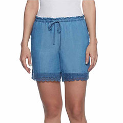Skye'S The Limit Tahitian Paradise Woven Pull-On Shorts-Plus