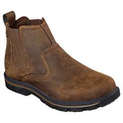 Skechers® Dorton Mens Leather Slip-On Boots