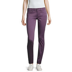 Arizona Sateen Skinny Pants-Juniors