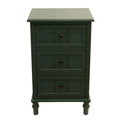 Decor Therapy 3-Drawer 3-Drawer Storage End Table