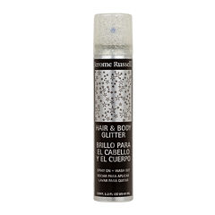 Jerome Russell Temp'ry Hair and Body Silver Glitter Spray - 2.2 oz.