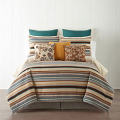 JCPenney Home™ Tapestry Stripe 4-pc. Comforter Set & Accessories