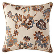 JCPenney Home™ Tapestry Stripe Embroidered Square Decorative Pillow