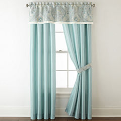 Home Expressions Lucerne 2 Pack Rod Pocket Back Tab Lined Curtain