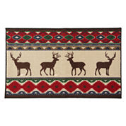 JCPenney Home™ Reindeer Lodge Accent Rug