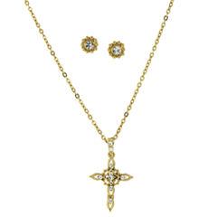 Symbols Of Faith Religious Jewelry Womens 2-pc. Clear Jewelry Set