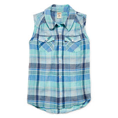 Arizona Tie Front Woven Top - Girls' 7-16 and Plus