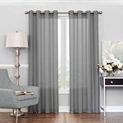 Eclipse Liberty Rod-Pocket Sheer Curtain Panel