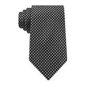 Stafford® Windmill Solid Silk Tie - Extra Long