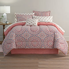 Home Expressions Callista Bohemian Reversible Complete Bedding Set with Sheets & Accessories