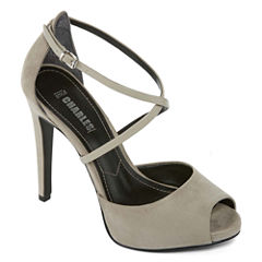 Style Charles Fatima Peep-Toe Pumps