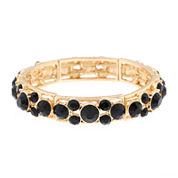 Monet® Black Stone Gold-Tone Stretch Bracelet