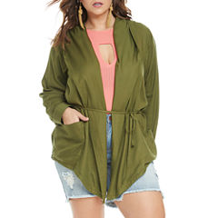 Fashion To Figure Lizzy Hooded Spring Woven Anorak-Plus