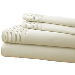1000 Thread Count Cotton Blend Pleated Hem  4 pc Sheet Set