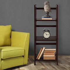 Folding 3-Shelf Stackable Bookcase