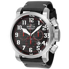 Invicta Aviator Mens Black Strap Watch-22261