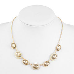 Monet Jewelry Womens Brown Collar Necklace