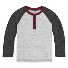 Arizona Long Sleeve Crew Neck T-Shirt-Preschool Boys