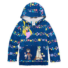 Disney Girls Tangled Fleece Jacket-Big Kid