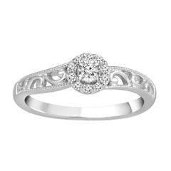 1/8 CT. T.W. Diamond Sterling Silver Promise Ring