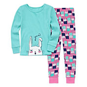 Okie Dokie® Yawn 2-pc. Sleep Pants Set - Preschool Girls 4-6x