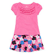 Okie Dokie® Ruffle Tee or Skater Skort - Baby Girls newborn-24m