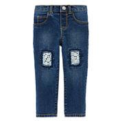 Arizona Patch Denim Jeans - Baby Girls 3m-24m