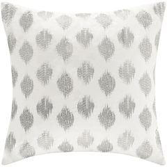 INK+IVY Nadia Dot Square Embroidered Decorative Pillow