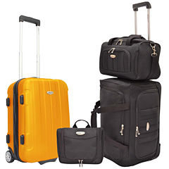 Traveler's Choice® Rome 4-Piece Carry-On Luggage Set