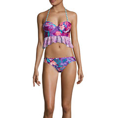 Social Angel Floral Tankini Swimsuit Top or Hipster Bottom-Juniors