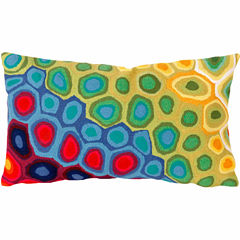 Liora Manne Visions Iii Pop Swirl Rectangular Outdoor Pillow