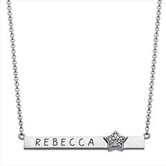 Personalized Diamond-Accent Star Name Bar Necklace