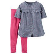 Carter's® 2-pc. Chambray Playwear Set - Baby Girls newborn-24m
