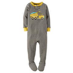 Carter's® Boy Long-Sleeve Dump Truck Footed Pajamas - Baby Boys newborn-24m